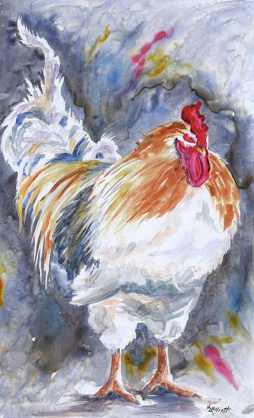 Barnyard Painting - Struttin His Stuff by Marsha Elliott