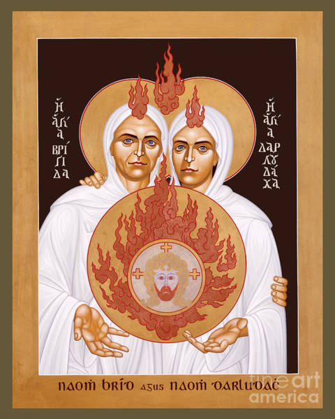 Painting - Sts. Brigid And Darlughdach Of Kildare - Rlbad by Br Robert Lentz OFM