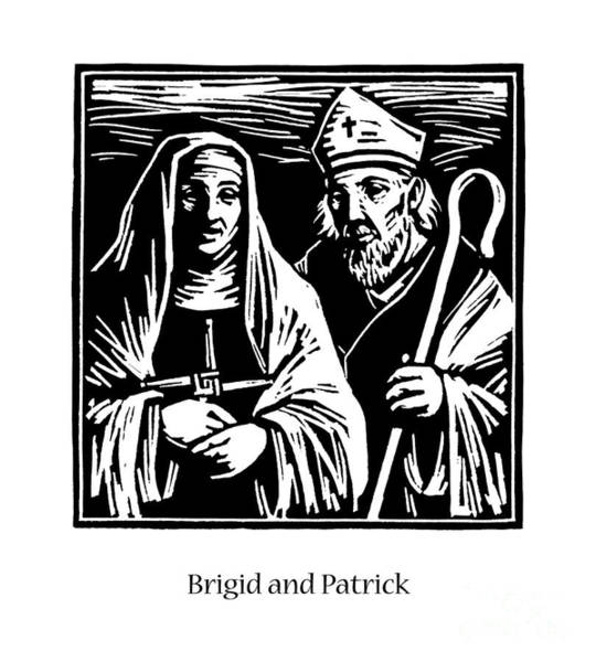 Painting - Sts. Brigid And Patrick - Jlbrp by Julie Lonneman