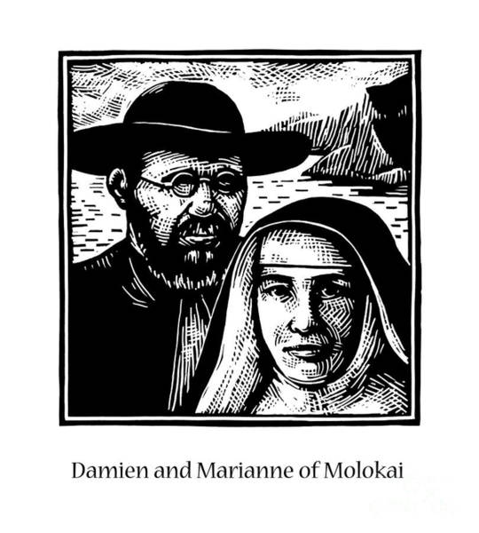 Painting - Sts. Damien And Marianne Of Molokai - Jldam by Julie Lonneman