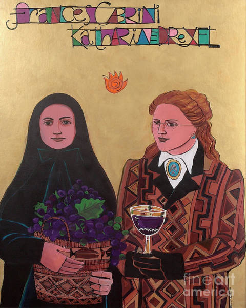 Painting - Sts. Drexel And Cabrini - Mmdac by Br Mickey McGrath OSFS