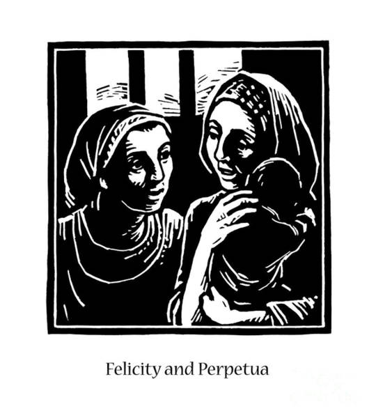 Painting - Sts. Felicity And Perpetua - Jlfap by Julie Lonneman
