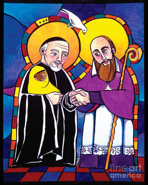 Painting - Sts. Francis De Sales And Vincent De Paul - Mmsap by Br Mickey McGrath OSFS