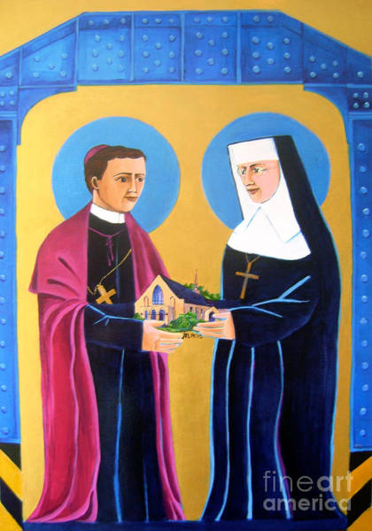 Painting - Sts. John Neumann And Katharine Drexel - Mmnad by Br Mickey McGrath OSFS
