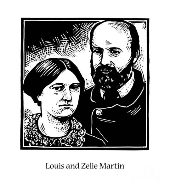 Painting - Sts. Louis And Zelie Martin - Jllzm by Julie Lonneman
