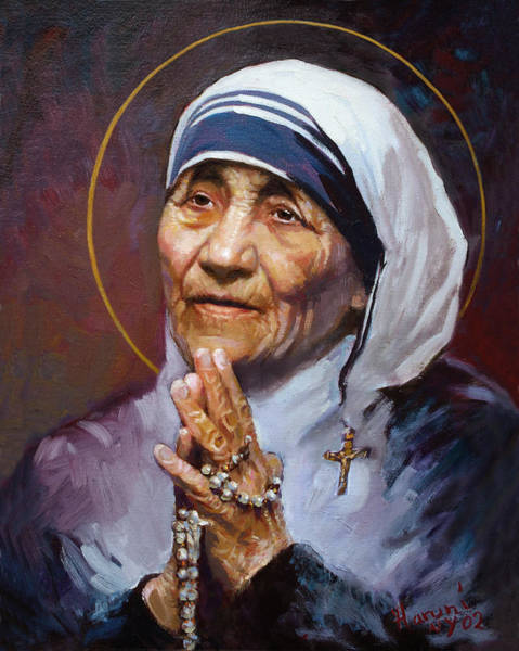 Smiling Painting - St.teresa Of Calcutta by Ylli Haruni
