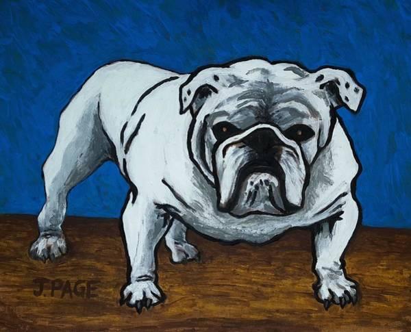 English Bulldog Painting - Stud by Jason Page