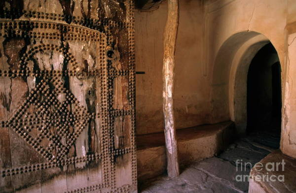 Wall Art - Photograph - Studded Door And Archway Inside The Palace At Telouet by Sami Sarkis