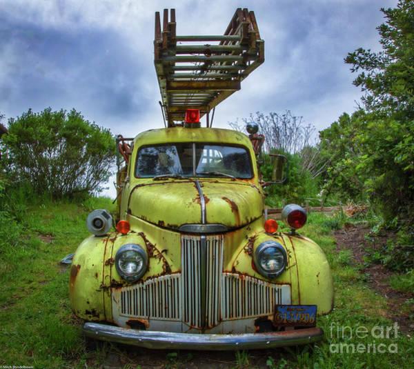 Firetruck Photograph - Studebaker Firetruck by Mitch Shindelbower