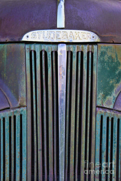 Photograph - 47 Studebaker Pick-up Grill by Richard Lynch