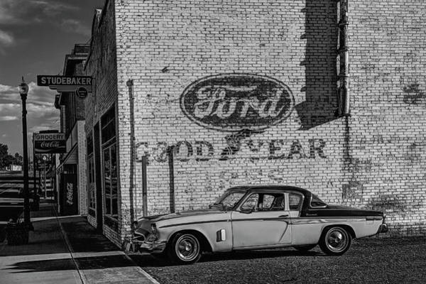Photograph - Studebaker President Black And White by Mark Kiver