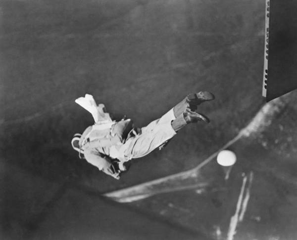 Photograph - Student Parachute Rigger by Underwood Archives