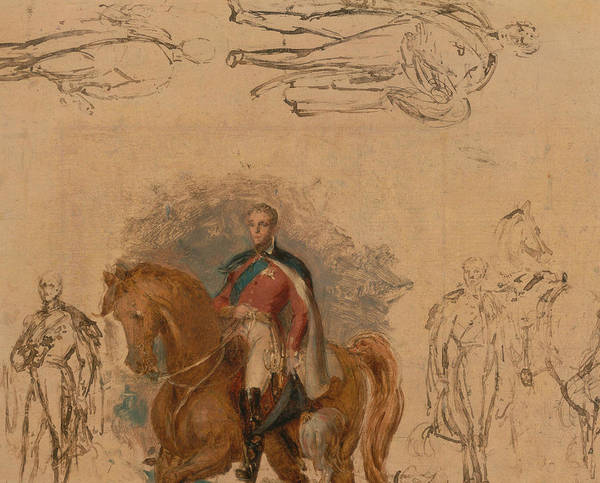 Wall Art - Painting - Studies For The Duke Of Wellington by George Hayter