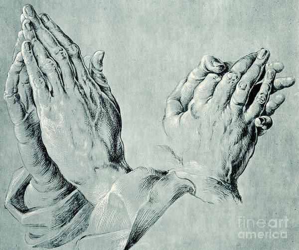 Disciple Wall Art - Drawing - Studies Of Hands by Hans Hoffmann