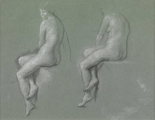Nudity Drawing - Studies Of The Nude by Sir Edward John Poynter