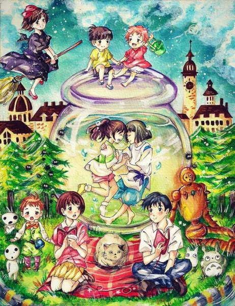 Totoro Digital Art - Studio Ghibli by Lobito Caulimon