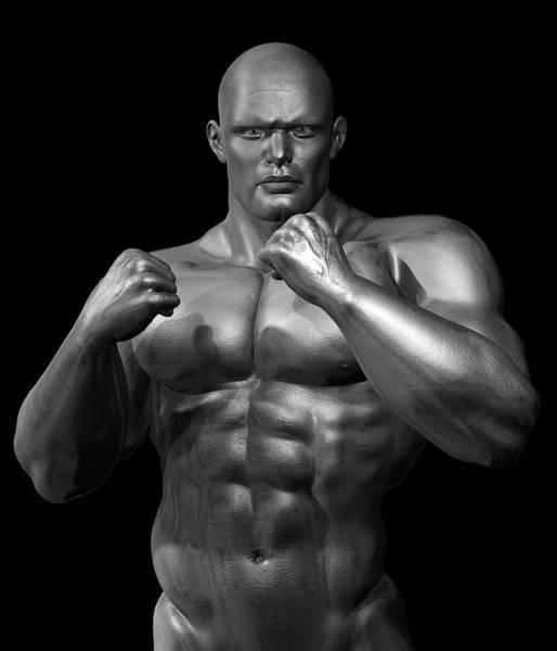 Sportsman Digital Art - Studio Man Render Series 28 by Carlos Diaz