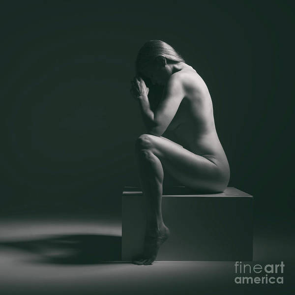 Photograph - Studio Nude Seated by Clayton Bastiani