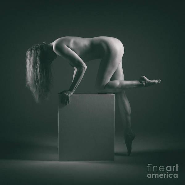 Photograph - Studio Nude Standing Kneeling by Clayton Bastiani