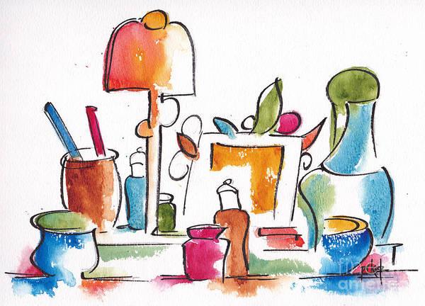 Painting - Studio Pals Abstract #9 by Pat Katz