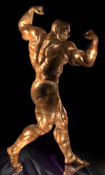 Sportsman Digital Art - Studio Man Render 20 by Carlos Diaz