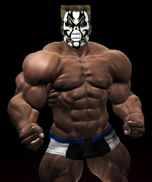 Sportsman Digital Art - Studio Man Render 19 by Carlos Diaz
