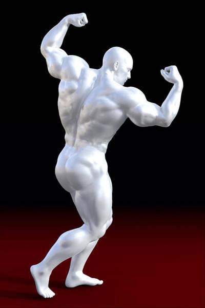 Sportsman Digital Art - Studio Man Render 18 by Carlos Diaz