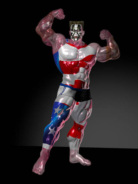 Sportsman Digital Art - Studio Man Render 16 by Carlos Diaz