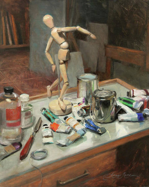 Still-life Painting - Studio Shenanigans by Anna Rose Bain