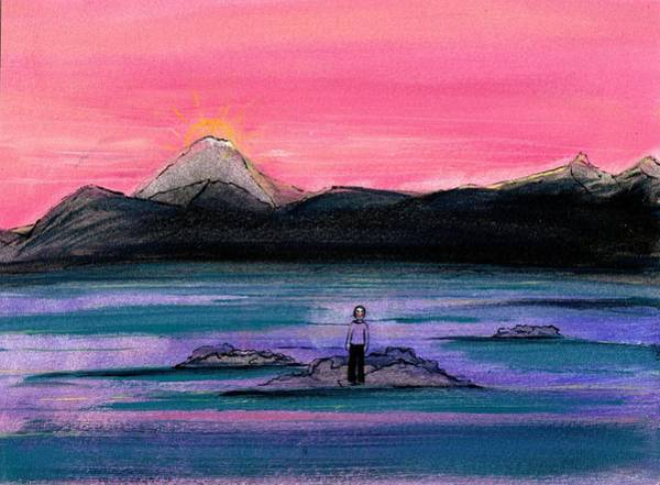 Unafraid Painting - Study For A Sunset In A Foreign Land by Gigi Sudbury