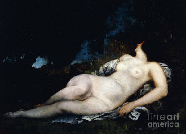 Wall Art - Painting - Study For A Woman Sleeping by Gustave Courbet