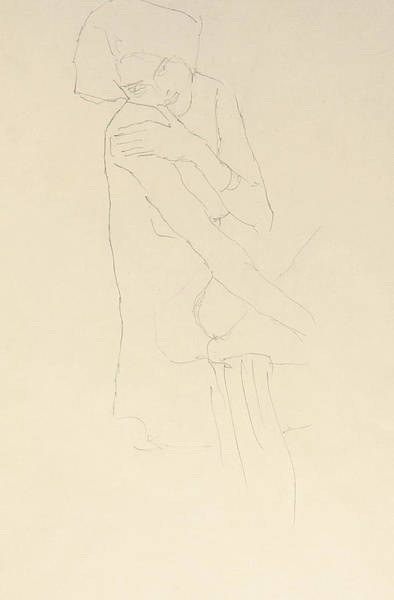 Bare Drawing - Study For Adele Bloch Bauer II by Gustav Klimt