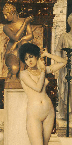 Unclothed Wall Art - Painting - Study For Allegory Of Sculpture by Gustav Klimt