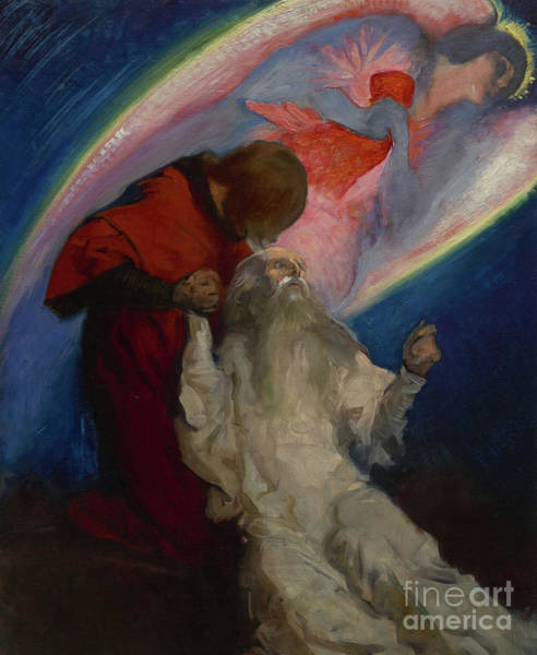 Wall Art - Painting - Study For Amfortas Released By Galahad, In The Quest And Achievement Of The Holy Grail by Edwin Austin Abbey