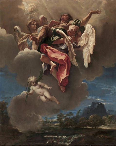 Gabriel Painting - Study For An Apotheosis Of A Saint by Sebastiano Ricci