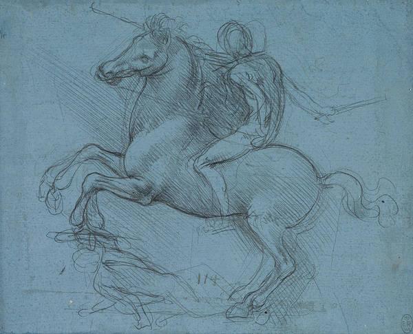 Drawing - Study For An Equestrian Monument  by Leonardo da Vinci