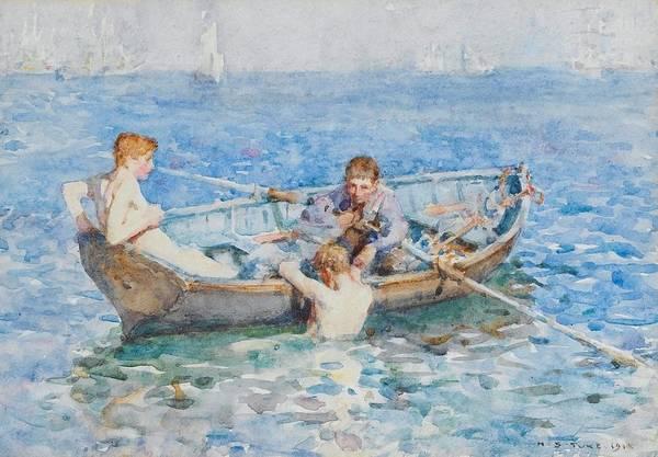 Painting - Study For August Blue by Henry Scott Tuke