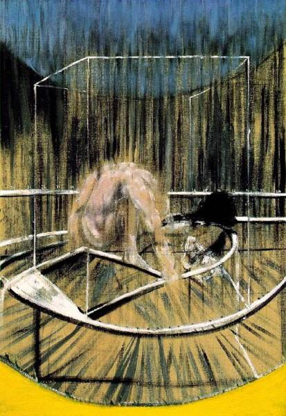 Painting - Study For Crouching Nude by Francis Bacon