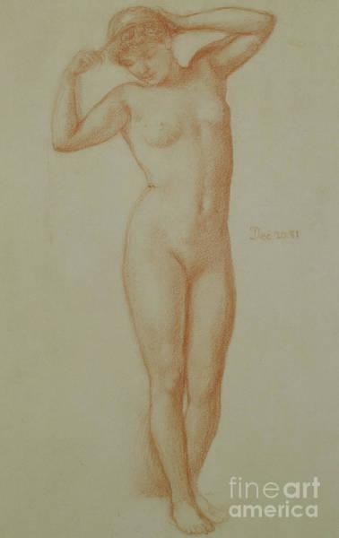 Wall Art - Pastel - Study For Diadumene, 1881 by Edward John Poynter