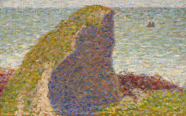 Painting - Study For Le Bec Du Hoc Grandcamp by Georges-Pierre Seurat