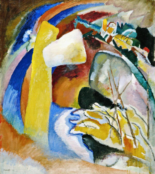Wall Art - Painting - Study For Painting With White Form by Wassily Kandinsky