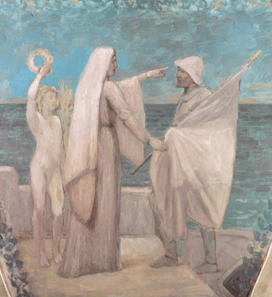 Painting - Study For Patriotism by Pierre Puvis de Chavannes