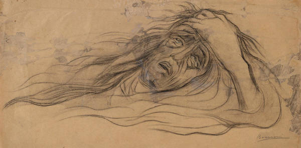 Boccioni Wall Art - Drawing - Study For The Dream - Paolo And Francesca by Umberto Boccioni