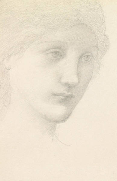 Goddess Drawing - Study For The Venus In The Godhead Fires by Sir Edward Burne-Jones