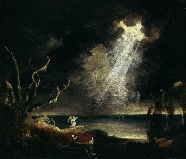 Trial Painting - Study For The Voyage Of Life Old Age by Thomas Cole