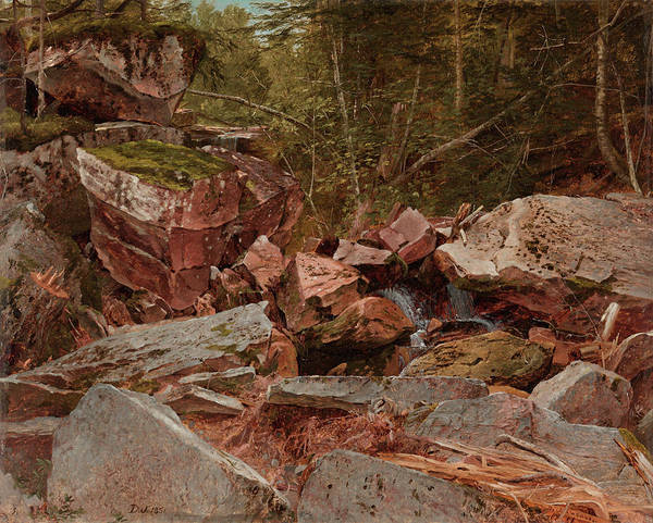 New Hampshire Painting - Study, North Conway, New Hampshire, 1851 by David Johnson
