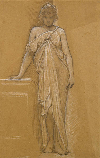 William Blake Drawing - Study Of A Classical Maiden by William Blake Richmond