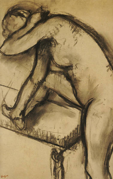 Curve Drawing - Study Of A Dancer by Edgar Degas