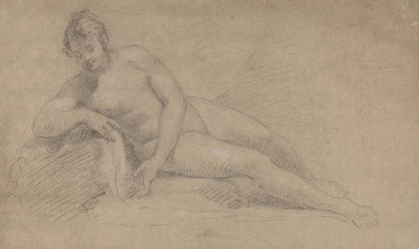 Drawing - Study Of A Female Nude by William Hogarth