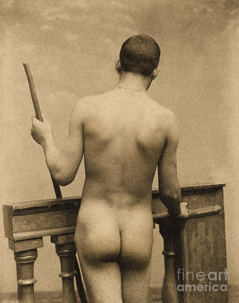 Wall Art - Photograph - Study Of A Male Nude, Sicily by Wilhelm von Gloeden
